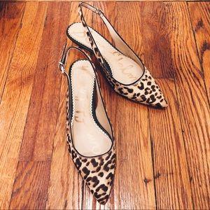 Sam Edelman Sand Leopard Ludlow Slingback Heels